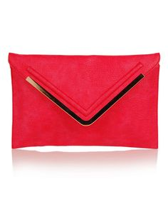 This Hot Coral Envelope Clutch is perfect! #zulilyfinds