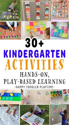 30 Play-Based Learning Kindergarten Activities - HAPPY TODDLER PLAYTIME Creative Activities For Kids, Preschool Learning Activities, Creative Teaching, Toddler Activities, Fun Activities, Homeschooling Resources, Fun Arts And Crafts, Play Based Learning, Distance