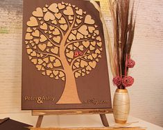 Personalized Wedding Anniversary Guest Book Alternative by DecoJubilee Guest Book Tree, Guest Book Alternatives, Wedding Guest Book, Personalized Wedding, Wedding Anniversary, Etsy Seller, Unique Jewelry, Handmade Gifts, Wood