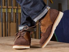 F R E E / M A N - Articles - Viberg Old Oxford Two Tone Suede