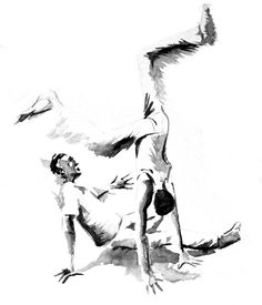 capoeira, Water colour, art