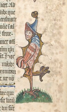 As it is #Halloween this week, today's #ManuscriptMonday word is 'Grotesque'. A hybrid and comic figure, often combining elements from various human and animal forms. Grotesques often bear no obvious relationship to the texts they embellish, although they can carry a commonly understood meaning derived, for example, from Bestiary-related texts.