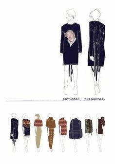 Fashion student portfolio - fashion illustration; layout; final collection lineup; fashion sketchbook // Grace Melville