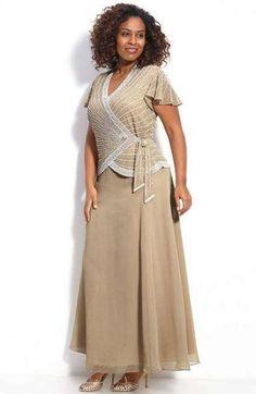 Vestidos para tallas grandes: fotos modelos - Festudi crema