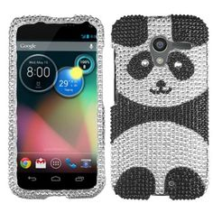 Bling Crystal Diamond Rhinestone Hard Cover Case For Motorola Moto X Phone XT1058 - Playful Panda, http://www.amazon.com/dp/B00EVOBRZS/ref=cm_sw_r_pi_awdm_h731sb1WAS3SY