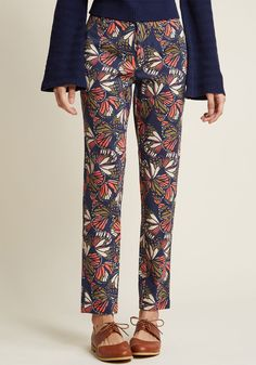 Sassy and Structured Pants in Butterflies | ModCloth