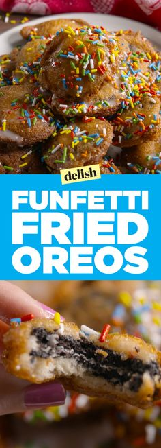 Funfetti fried Oreos will take your party from 0 to 100 real quick. Get the…