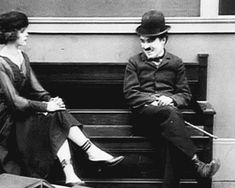 Charlie Chaplin ever the ladies man.