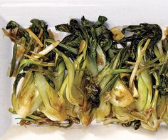 Stir-Fried Bok Choy with Garlic, Ginger, and Scallions  nice with the egg fu young.