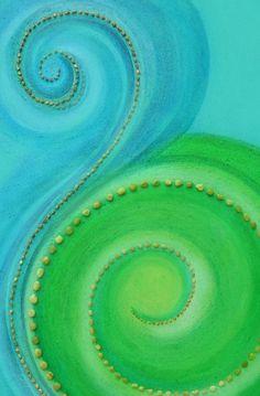 Aqua and Lime