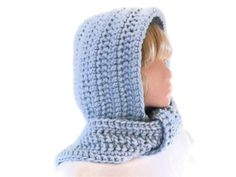 Hood & Scarf Combo in Ice Blue by UniquelyYourDesigns on Etsy, £30.00