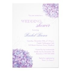 Southern Hydrangea Blooms Spring Wedding Shower Custom Announcements
