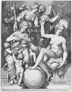 Allegory of the Psalm of David - After Agostino Carracci (metmuseum)