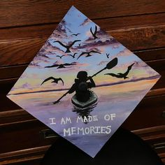 Hand painted lilac coloured grad cap design // follow us @motivation2study for daily inspiration Graduation Cap Designs, Graduation Cap Decoration, Graduation Caps, Graduation Pictures, College Graduation, Grad Hat, Cap Decorations, Grad Gifts, Diys