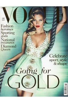 Kate Moss fronts (for the 32nd time) @BritishVogue JUNE '12 COVER in @Versace #follow#twitter