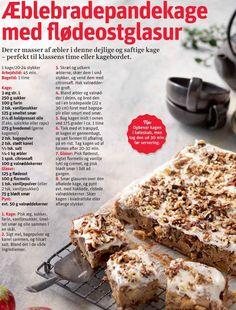 Æble bradepandekage Scandinavian Food, Gorgeous Cakes, Brownies, Cake Recipes, Sweet Tooth, Recipies, Food Porn, Food And Drink, Bread