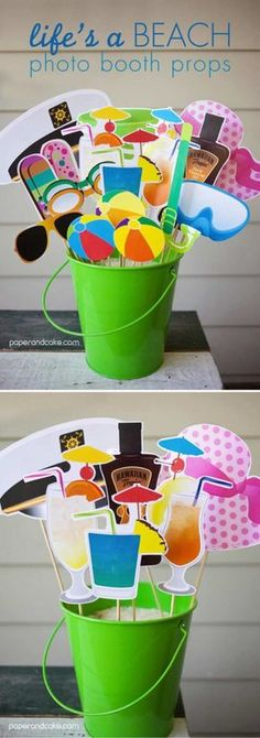 Life's a Beach Photo Booth Props | 19 Cool DIY Photo Booth Props