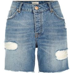 Designer Clothes, Shoes & Bags for Women Womens Long Shorts, Long Jean Shorts, Boyfriend Jean Shorts, Ripped Jean Shorts, Mom Jeans, Short Shorts, Destroyed Jeans, Distressed Denim Shorts, Holiday Outfits