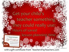 Planning a lesson takes HOURS of time. Finding a ready-to-use one on TpT takes one click. Give your child's teacher the gift of time this holiday season.