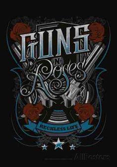 Guns N Roses Recklesslife Fabric Poster Guns And Roses, Rock Posters, Band Posters, Concert Posters, Hard Rock, Concert Rock, Chicano, Rock Legends, Axl Rose
