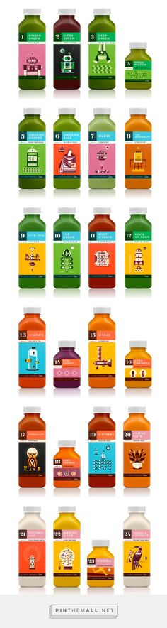 Kaffe 1668 Juices by Martin Azambuja. Source: Behance. Pin curated by #SFields99 #packaging #design