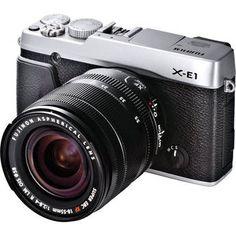 Fujifilm X-E1 Digital Camera Kit with XF 18-55mm f/2.8-4 OIS Lens (Silver) - The X-Pro 1's cheaper, sluttier little sister.