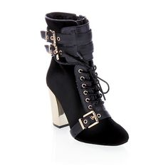 """June Ambrose Haircalf and Leather """"Mason"""" Bootie"""