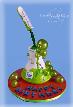 Science beeker  cake - Cake by curiAUSSIEty custom cakes