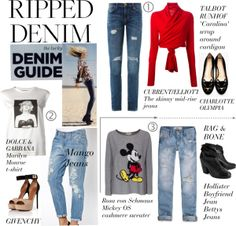 """""""Ripped Denim"""" by girlieques on Polyvore"""
