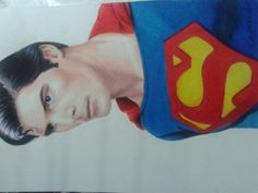 Superm Man colored pencils