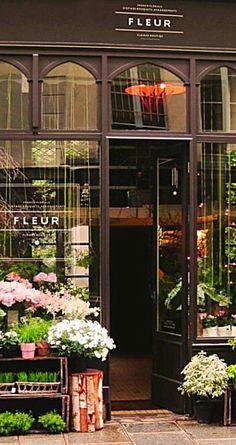 beautiful flower shop storefront