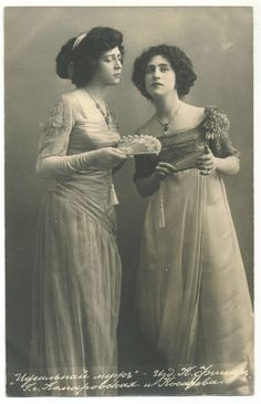 Olga Leonardovna Knipper-Chekhova & Kosareva [Olga Knipper was a Russian stage actress. She was married to Anton Chekhov]