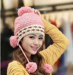 Apparel Accessories Bomhcs Cute Babys Cat Beanie 100% Handmade Knitted Kids Ears Hat For Kids Ages 3-8 Fast Color