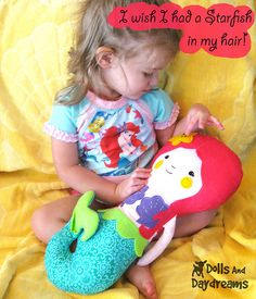 little mermaid doll softie sewing PDF pattern 2 copy by Dolls And Daydreams, via Flickr