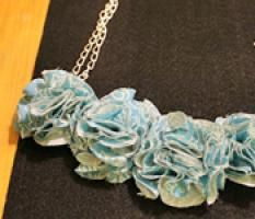 Anthropologie Inspired Fabric Necklace