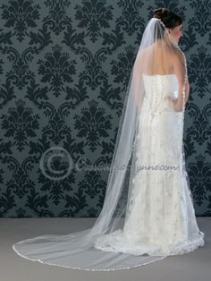Lace Wedding Veil Circular Chapel Length. Bridal VeilsWedding ... 8021eb6863e9