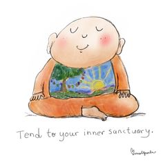 {today's doodle} inner sanctuary