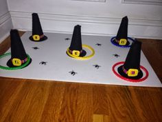 Which hat ring toss, Halloween party game