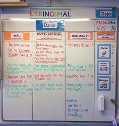 Dagens læringsmål i 4 klasse - Dansk