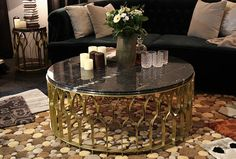 LOW ROUND COFFEE TABLE FOR LIVING ROOM MECCA BY BRABBU