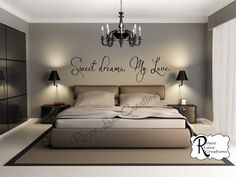 bedroom decal sweet dreams my love 3 vinyl bedroom wall decal bedroom decor sweet dreams decal sweet dreams wall decal bedroom decal - Modern Schlafzimmer