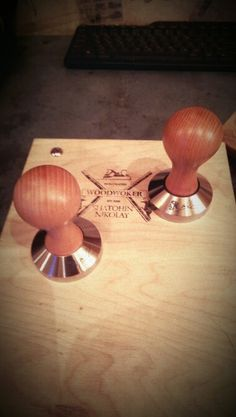 Coffee tamper Coffee Tamper, Woodworking, Home Decor, Woodworking Crafts, Joinery, Interior Design, Carpentry, Home Interior Design, Woodwork