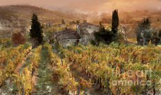 Tuscany Landscape, Digital Art, Wall Art, Artwork, Painting, Kunst, Work Of Art, Auguste Rodin Artwork, Painting Art