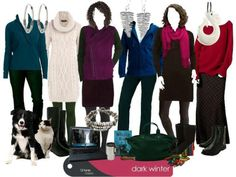 Deep Winter outfits