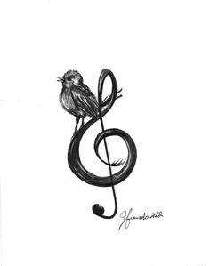 Bird Drawing - Songbird  by J Ferwerda