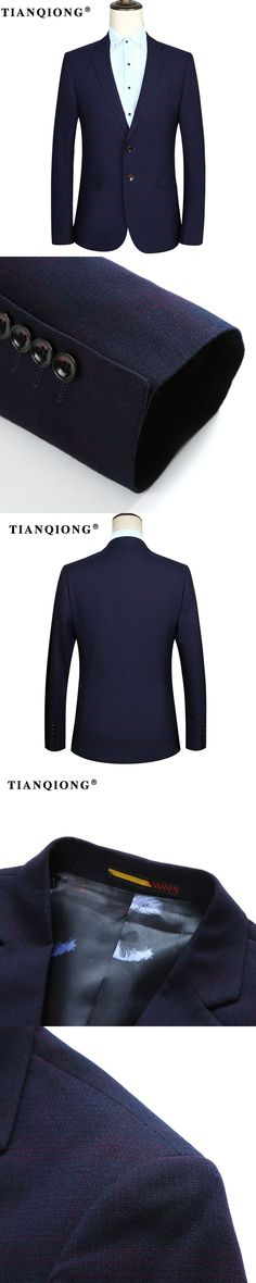 TIAN QIONG 2017 New Fashion Casual Men Blazer Blue Slim Korea Style Suit Blazer Masculino Male Suits Jacket Blazers Men M-3XL