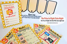 The Price Is Right Group Date {FREE Printables included!}