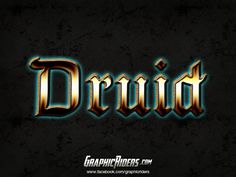 GraphicRiders | Fantasy style – Druid (free photoshop layer style, text effect) #graphicriders