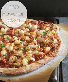 BBQ Hawaiian pizza (a great way to use up leftover ham!)