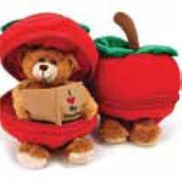 Bear in Apple for Teacher (Imprintable with Name or Logo)